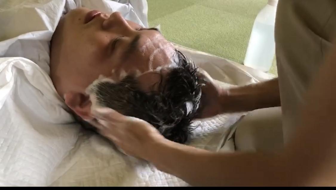 洗髪ケア☆4