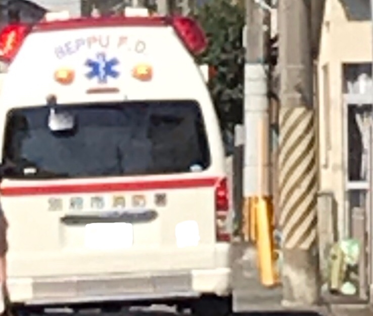 見送った救急車